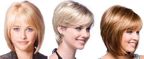 Короткие причёски на круглое лицо